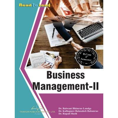 Business Management- II