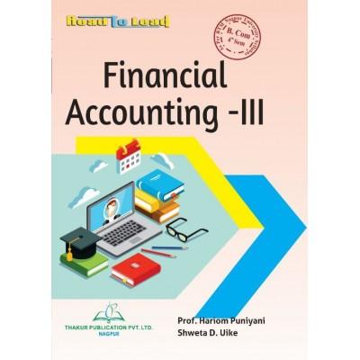 Financial Accounting- III