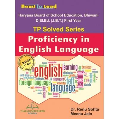 Proficiency in English...