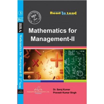 Mathematics for Management-II